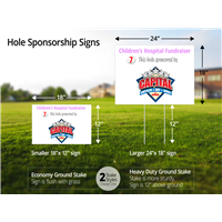 Golf Hole Sponsor Signs